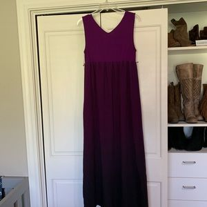 Purple ombré maternity dress